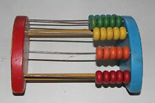 NICE VINTAGE COLORFUL HOLGATE WOODEN ABACUS ROCKING HORSE COUNTING TOY