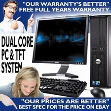 More details for cheap fast dell hp dual core desktop bundle pc tft computer windows 10 4gb wifi