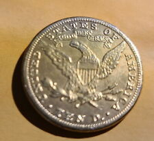 S Mint Mark Gold 10 Dollar Eagle Reverse, 1909 Barber Quarter - Magician Coin?