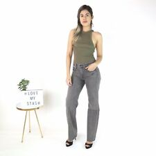 HELMUT LANG Flare Mid-Waist Jeans In Light Gray Destroy -Size 27 - NWT RRP $320