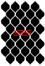 ISLAMIC PATTERN MYLAR STENCIL HOME DECOR PAINTING WALL ART 190 MICRON - A4 & A3