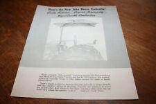 John Deere New Umbrella Brochure Tractors & 55 Combine 1950 NEAT!