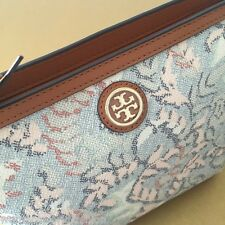 Tory Burch Dahlia Combo Coated Canvas Multi-color Large Cosmetic Pouch 22159040