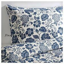 New Linen King Duvet Quilt Cover w/ 2 Pillowcases ANGSORT White Blue Sealed pkg
