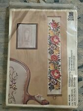 Vtg Floral Danish Embroidery Wall Hanging Pattern & Wool Set Nostra Zephyr 40536