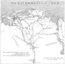 Mapa de Egipto. Sketch delta de Nilo, riego & sistema de recuperación de tierras, 1882