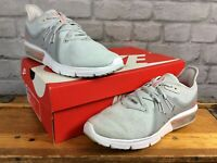 NIKE LADIES UK 6 EU 40 GREY PINK AIR MAX SEQUENT 3 FLYKNIT TRAINERS