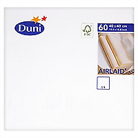 Duni Airlaid WHITE Napkins 40 x 40cm - Pack of 60