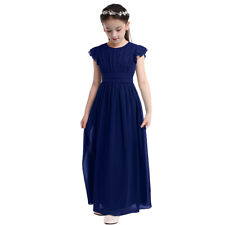 Flower Girl Dress Princess Party Long Dress Wedding Pageant Birthday Sequin Maxi