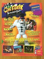 ClayFighter: The Sculptor's Cut N64 1998 Print Ad/Poster Authentic Blockbuster