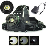 Tactical 90000LM Zoomable Headlamp 18650 T6 LED Headlight Flashlight US Stock