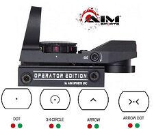 AIM Multi-reticle Combat Reflex Sight w-4 reticles Fits Weaver - Picatinny Rails