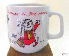 "Vintage Cathy Mug ""Woman on the Move"" 1985 Made in Japan"