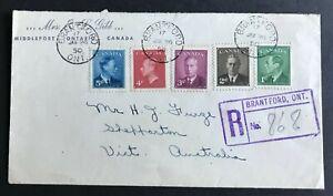 Canada - Registered Cover Postmarked Brantford - Interesting Backstamps.