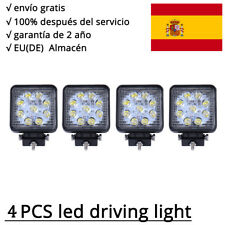 27W LED Luces de trabajo, Lámpara Trabajo conducción focos 12V Square Work Light