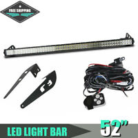 Straight 52inch LED Work Light Bar Combo Offroad S/F for 07-14 Toyota FJ Cruiser
