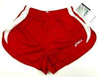 Asics Womens Medley 1/2 Split Running Shorts Red Size Small TF755-2301