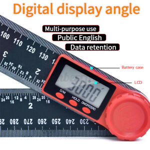 "8""/11.8"" 360 ° LCD Digital Angle Ruler Inclinometer Meter Goniometer"