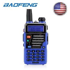 Baofeng UV-5R Plus Qualette Two-way Radio FM VOX Dual band VHF UHF Blue