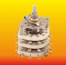 6 POLE 5 POSITIONS RUSSIAN UNSHORTING CERAMIC ROTARY SWITCH