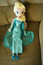 Authentic Disney Store Frozen Elsa Plush Doll 20 Inch NWT .  FREE Shipping.