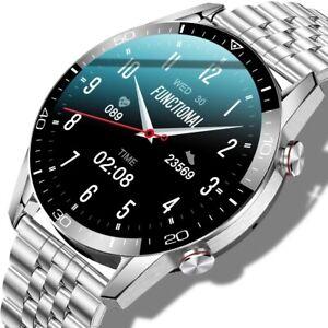 Smartwatch Bluetooth EKG Herzfrequenz Blutdruck Fitness Tracker Sport Armbanduhr