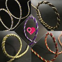 Metallic Twist Cord Rope Braid Jewelry Soutache Gift Tag Gold Silver White 3/6mm