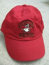 MADONNA SEAFOOD Red Hat Embroidered Crab White Hall MD One Size Fits All