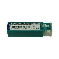 Heller 2.5 mm HSS-TIN TITANIO Twist Punte Trapano in Metallo 10 Pack tedesco di qualità