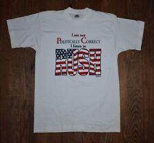 Vintage NOS 1993 I Am Not Political Correct I Listen To Rush Election T Shirt  L