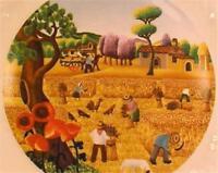 Spring Four Seasons Salad Plate Tabletops Unlimited Country Folk Art Porcelain