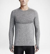 Nike Dri-Fit Knit Long-Sleeve Men's Running Top (L) 717760 010