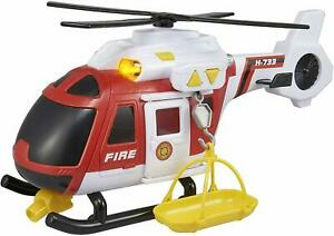 Large Light & Sound Fire Helicopter Kids Emergency Services Toy
