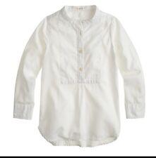 J Crew CrewCuts B1384 Girls White Bib Cotton Tunic 5
