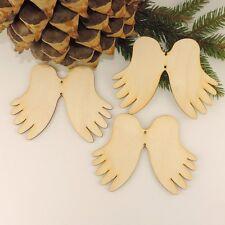 Engelsflügel 12cm Baumbehang 3 St. Basteln Schmücken Holz DIY Rohling, Weihnacht