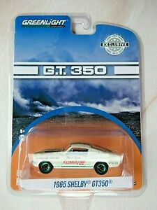 GREENLIGHT 1:64 1965 SHELBY GT350 HOBBY EXCLUSIVE GREEN MACHINE / CHASE