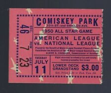 1950 BASEBALL ALL STAR GAME TICKET STUB @ CHICAGO - JOE DI MAGGIO - CAMPANELLA