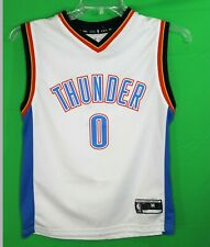 Russell Westbrook Oklahoma City Thunder Jersey Youth M JERSEY embroidered WHITE