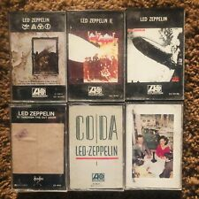 6 Lot Led Zeppelin Cassette Tapes. See Item Description