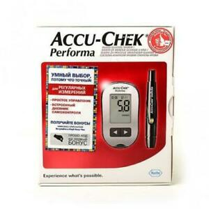 Accu-chek Performa Blood Glucose Meter +10 free tests Works by mmol/L