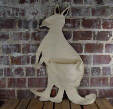 White Kangaroo Pouch Pals Kids Hanging Wall Storage for Bedroom or Playroom