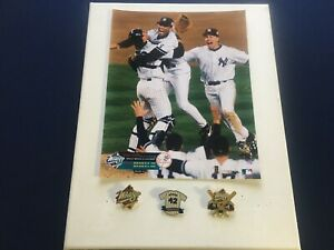 Mariano Rivera celebrates the 1999 World Series victory photo, canvas and pins