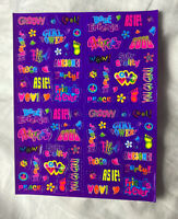VTG Lisa Frank Stickers S396 GROOVY girl Power As If 1990s Stickers