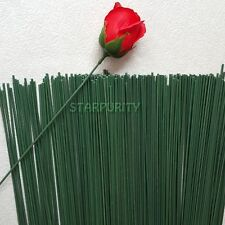 10Pcs 2# Green Floral Tape Iron Wire Artificial Flower Stub Stems Rod Craft 40cm