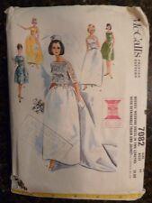 McCall's 7082 Misses Wedding Dress & Jacket Original 1963 Pattern size 14 Cut