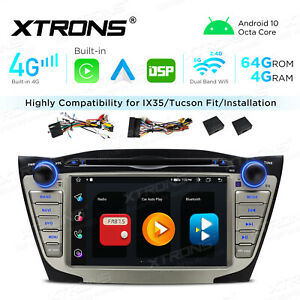 "7"" Android 10 8-Core 4+64G Car GPS DVD Radio 4G LTE DSP for Hyundai ix35 Tucson"