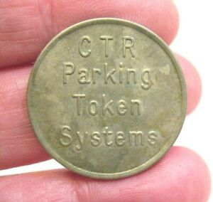 OLD CTR PARKING TOKEN SYSTEMS SILVER TONED TOKEN