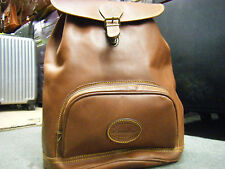Vintage EDDIE BAUER Brown All Leather BEAUTIFUL Backpack Preppy Classic EUC