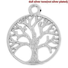 10 TREE OF LIFE  DRUID TRIQUETRA TIBETAN SILVER CHARMS/PENDANTS/WICCAN/PAGAN