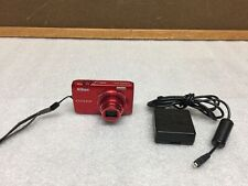 Nikon COOLPIX S6300 16 MP Digital Camera 10x Wide Zoom, Red, with Charger